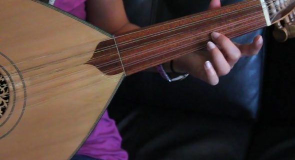 Screen shot from Sara plays the Oud.
