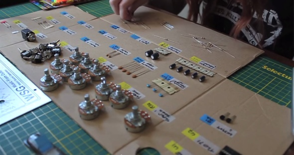 Organization is key. A shot from Never Have I Ever - Colleen builds a synthesizer